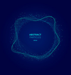 Abstract illuminated blue circle shape of vector