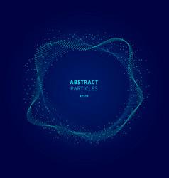 Abstract illuminated blue circle shape vector