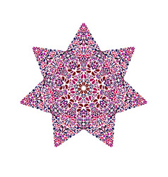 Abstract isolated colorful floral star logo vector