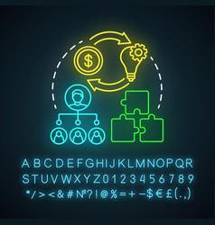 Affiliate marketing neon light icon digital vector