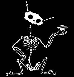 Alien skeleton vector
