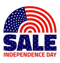 American Independence Day Sale for your design vector image