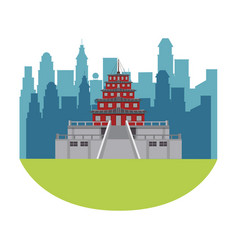 asian temple building vector image