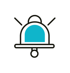 bell notification social media icon line and fill vector image