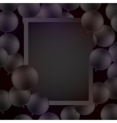 Black ballons on black background with mockup vector