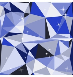 Blue abstract background polygon vector