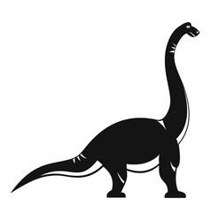 brachiosaurus dinosaur icon simple style vector image
