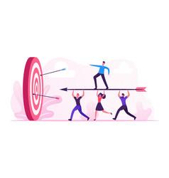 business goals achievement concept businesspeople vector image