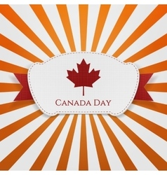 Canada Day realistic Emblem with Ribbon vector