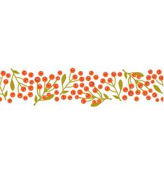 christmas mistletoes seamless border vector image