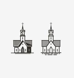 Church logo or label religion symbol vector