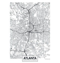 city map atlanta travel poster design vector image