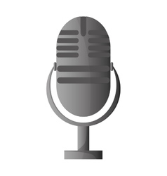 Classic microphone icon vector