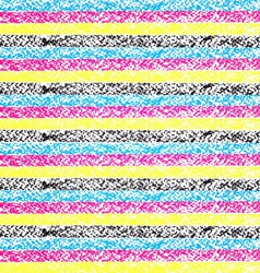 CMYK pastel crayon striped background vector image