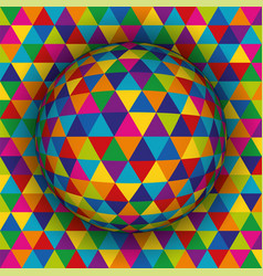 colored spherical 3d background vector image