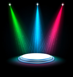Colorful glow spotlights background vector