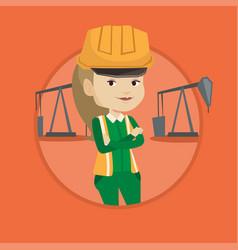 confident oil worker vector image