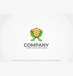 Corn and beans logo vector