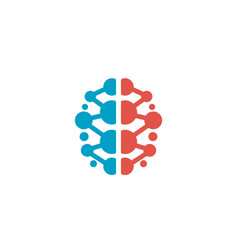 Creative smart colored brain logo vector