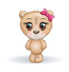 cute bear cartoon hand drawn print t-shirts baby vector image