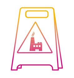 degraded line plastic caution emblem factory vector image