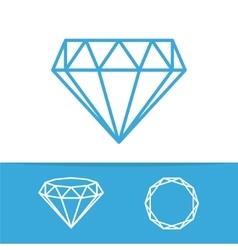 diamonds icon set vector image