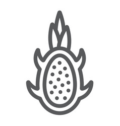dragon fruit line icon fruits and tropical vector image