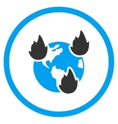 Earth Disasters Icon vector image