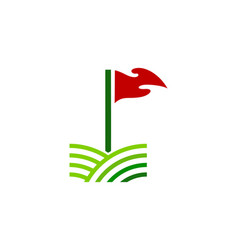 field golf logo icon design vector image