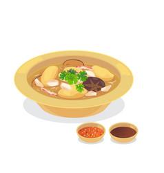 fish maw soup vector image