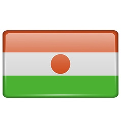 Flags Niger in the form of a magnet on vector