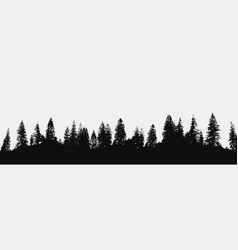 forest silhouette backdrop vector image