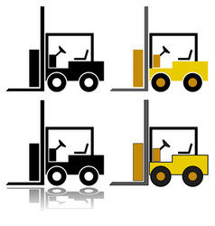 Forklift icon set vector