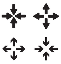 full screen and exit screen icon set vector image