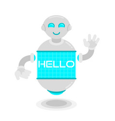 Future robot say hello vector