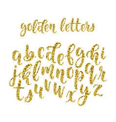 Gold glitter hand drawn latin modern calligraphy vector