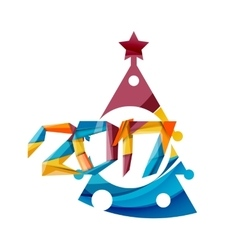 happy new year and christmas holiday greeting card vector image