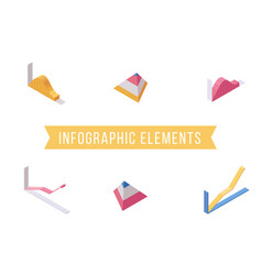 infographic elements flat isometric vector image