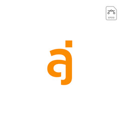 Initial aj logo or symbol business company icon vector