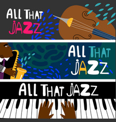 jazz piano saxophonist banners vector image