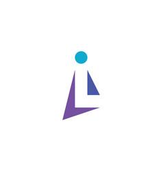 l logo letter symbol icon design element vector image