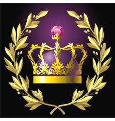 Laurel wreath and crown vector