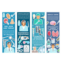 Medical banners for health medicine vector