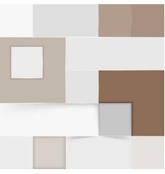 modern square box composition in semitone colors vector image