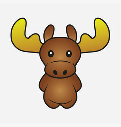 moose cartoon vector image