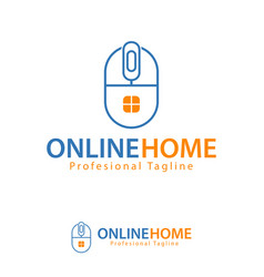 online home design template logo iconic symbols vector image