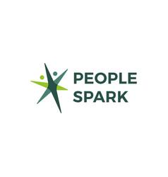 People spark health active logo icon vector
