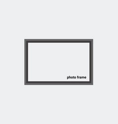 photo frame mockup design gray background vector image