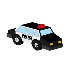 police car icon design vector image