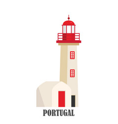 portugal lighthouse cabo de roca vector image